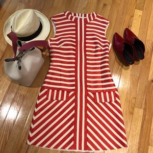 🆕NWOT Karen Millen STRIPED TWEED SHIFT DRESS